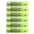x6 AAA Rechargable Batteries (750mAh)